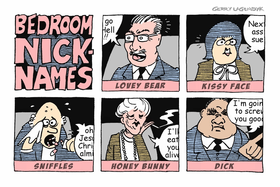 Bedroom Nicknames, business cartoon