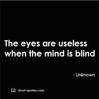 eyes are useless proverb