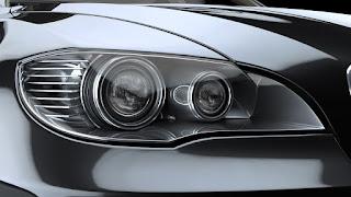 lumière de tête de voiture