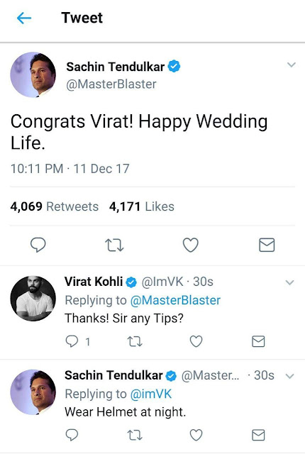 Virat  Anushka Marriage funny tweets
