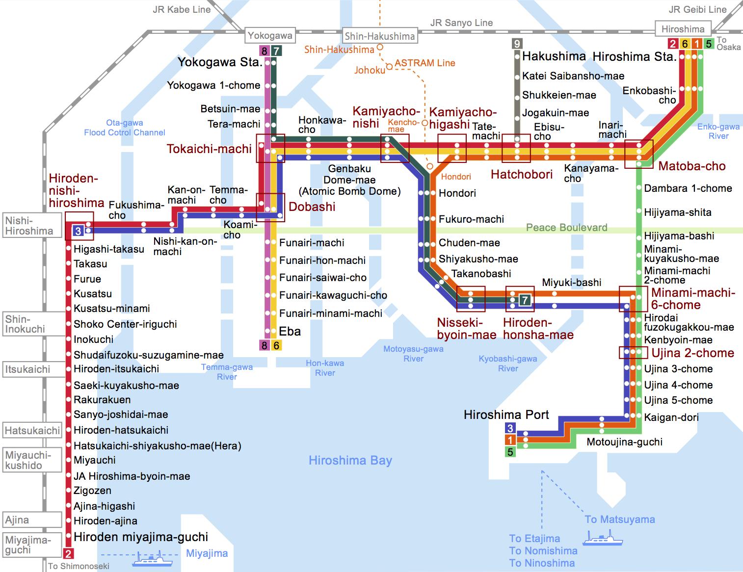 NAMA WASAVI Railway Map Summary of Japan ENGLISH