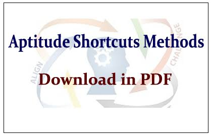 SHORTCUT METHODS, TIPS & TRICKS  IN QUANTITATIVE APTITUDE