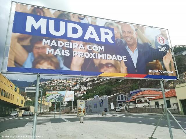 CARTAZES PS E PSD - FUNCHAL - ZONA DO CAMPO DA BARCA