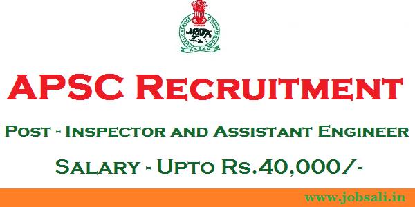 APSC Engineer vacancy, Govt jobs in Assam, Assam Career