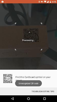 Patec Cardboard VR error