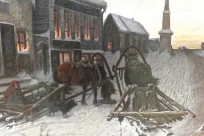 VG Perov : la denrière taverne avec la sortie du village Galerie Titrakov Moscou