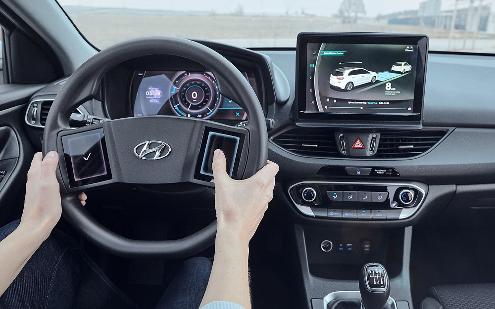 Hyundai reveals study on virtual cockpit