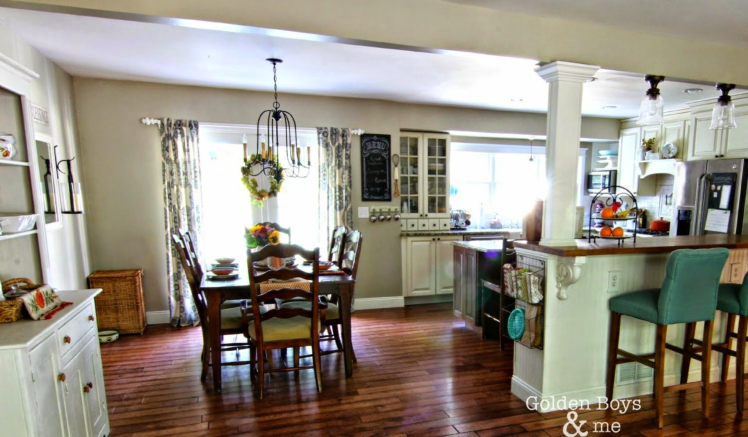 Kitchen Living: Golden Boys And Me: Fall Kitchen & Living Room