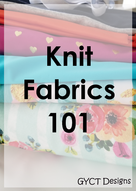 Understanding how to choose to right types of knit fabrics for sewing projects including understanding fabric content, weight and type.