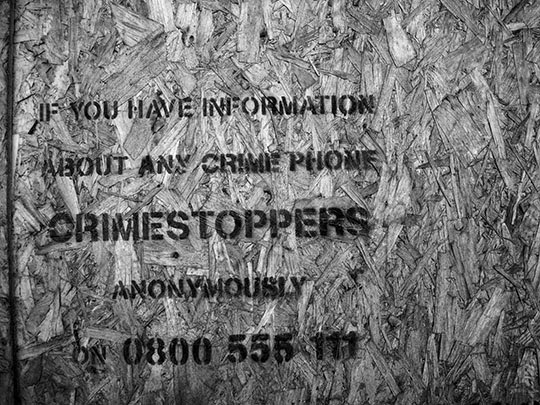 crimestoppers, urban photography, black and white, art, photo,