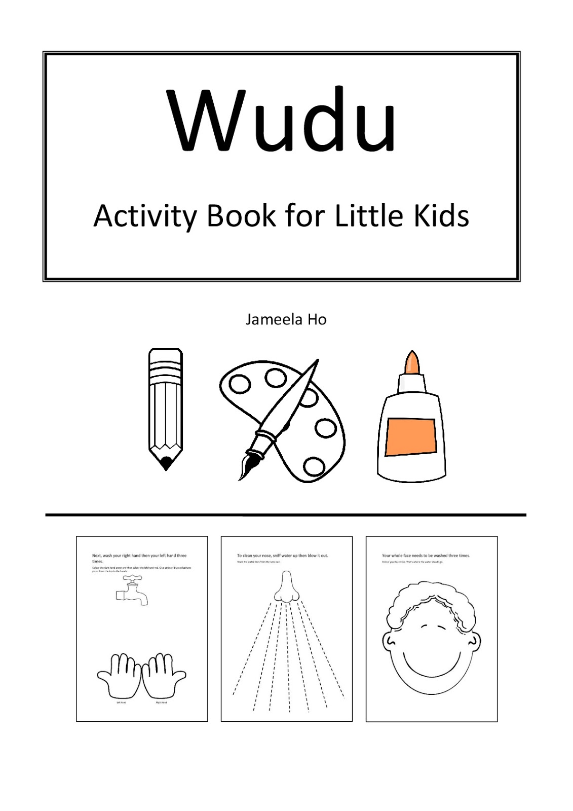 Ilma Education Wudu Activity Book For Little Kids