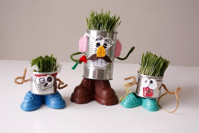 Mr. Recycle Head Man - Delia Creates