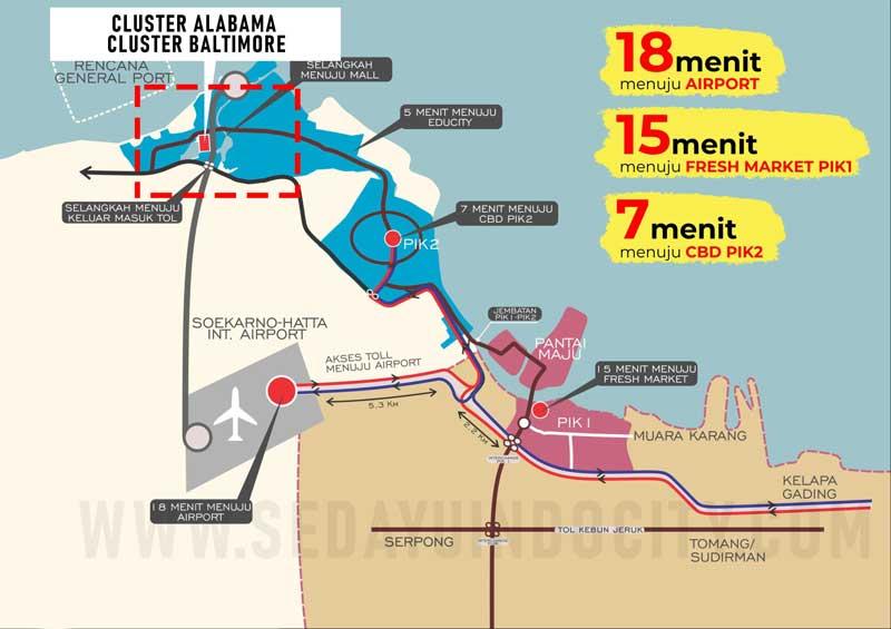 Lokasi Cluster Alabama dan Baltimore