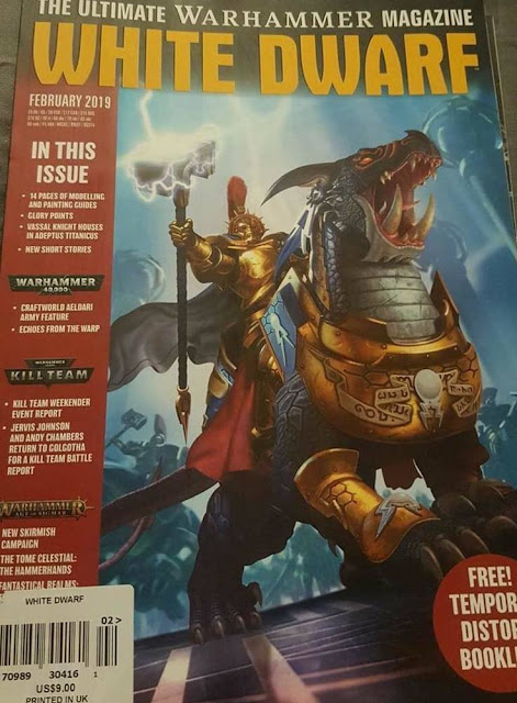 portada de la White Dwarf de febrero de 2019