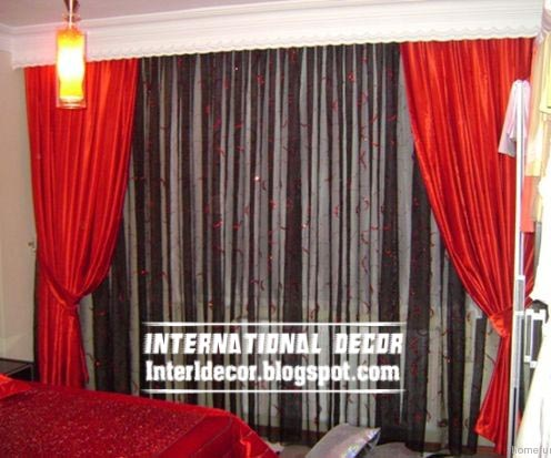 Red And Black Curtain For Bedroom, Top Curtain Model Design Ideas For  Bedroom