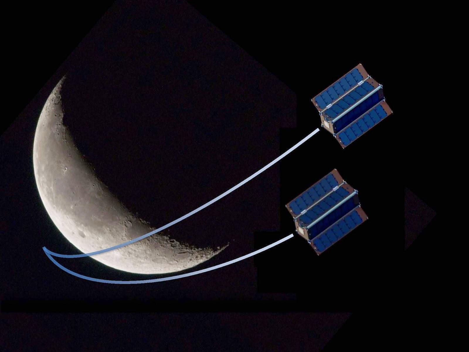 Tiny Moon Satellites