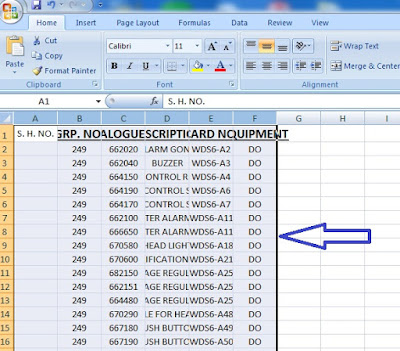 selecting excel texts for paste