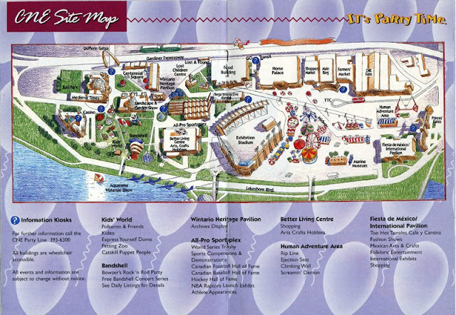 Map: Canadian National Exhibition. 1994