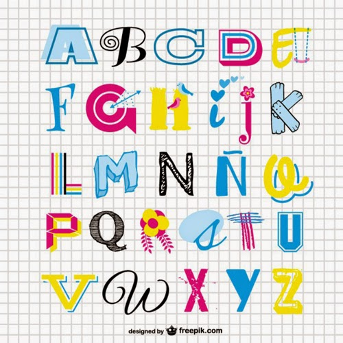 Set Vectors Alphabet