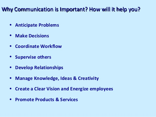 The importance of Communication to your career and personal life ...