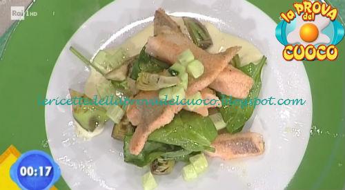 Insalata di carciofi e trota con maionese e cetrioli ricetta Parizzi da Prova del Cuoco