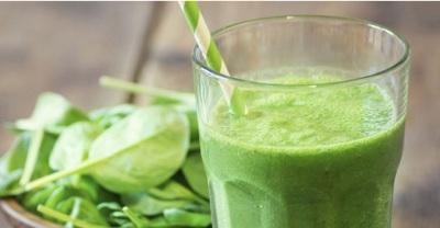 3. Green Vanilla Almond Post-Workout Shake . Smoothie hijau yang kaya akan protein ini bisa jadi pilihan anda untuk mendapatkan energi dengan cepat.