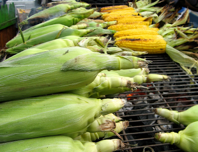 Roasted maize is a common grilled street food snack found all over Africa.