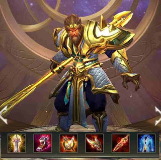 Build Item terbaik Wukong Arena of Valor (AoV) - High Critical Damage.