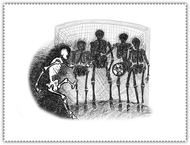 Затянувшийся матч, футбол, скелеты, арт, p_i_r_a_n_y_a