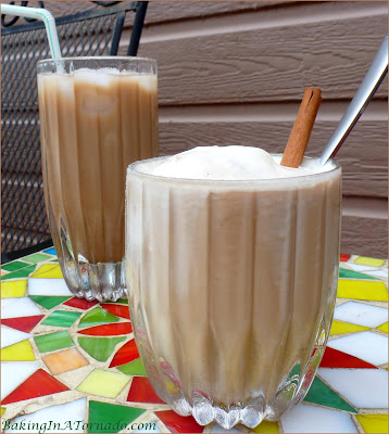 Coffee, Vanilla and Cinnamon flavors meet summer in this Chata Iced Coffee cocktail. Refreshing served over ice or with a scoop of ice cream. | Recipe developed by www.BakingInATornado.com | #recipe #cocktail