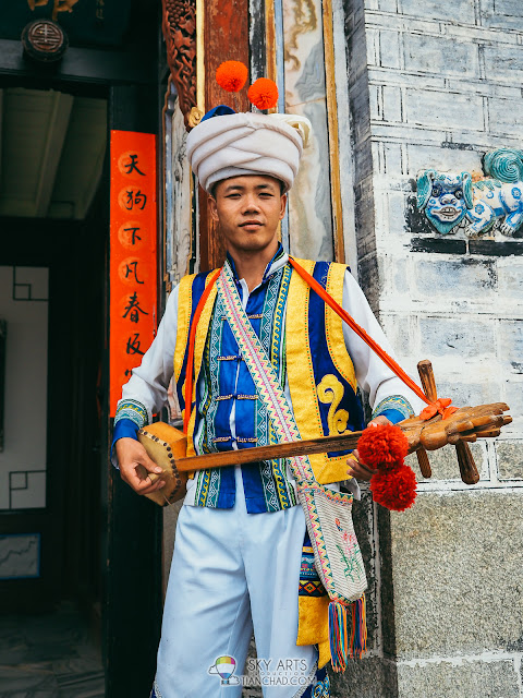 Unique outfit for different nationality in Yunnan Nationalities Village