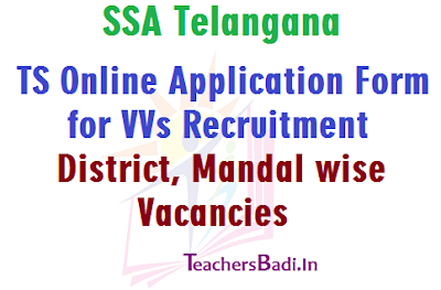 VVs Online Application Form, VVs Recruitment