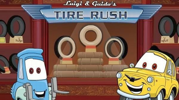 Play Cars Luigi and Guido's Tire Rush game