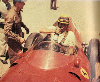 Musso at the wheel of his Ferrari Formula One car