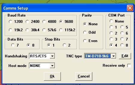 YO3HJV: 9k6 APRS with Ui-View and TM-D710