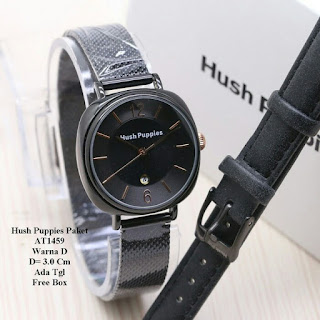 Jam Hush Puppies warna hitam