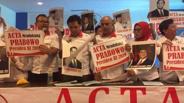 ACTA Deklarasikan Dukungan untuk Prabowo Sebagai Capres 2019