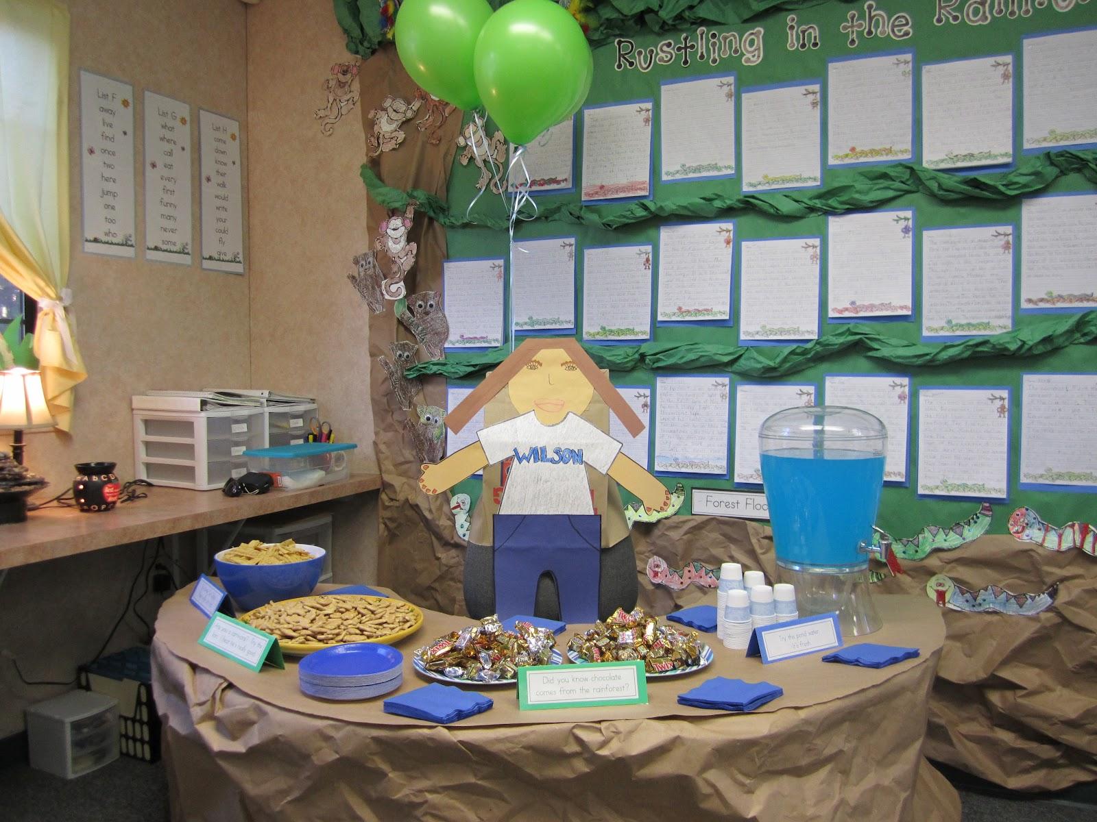 open house ideas for kindergarten