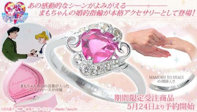 Produsen Mainan Asal Jepang Meluncurkan Cincin Sailor Moon Yang Sangat Indah