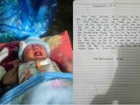 Bayi Perempuan di Tinggal di Teras Rumah di Bekali Sepucuk Surat