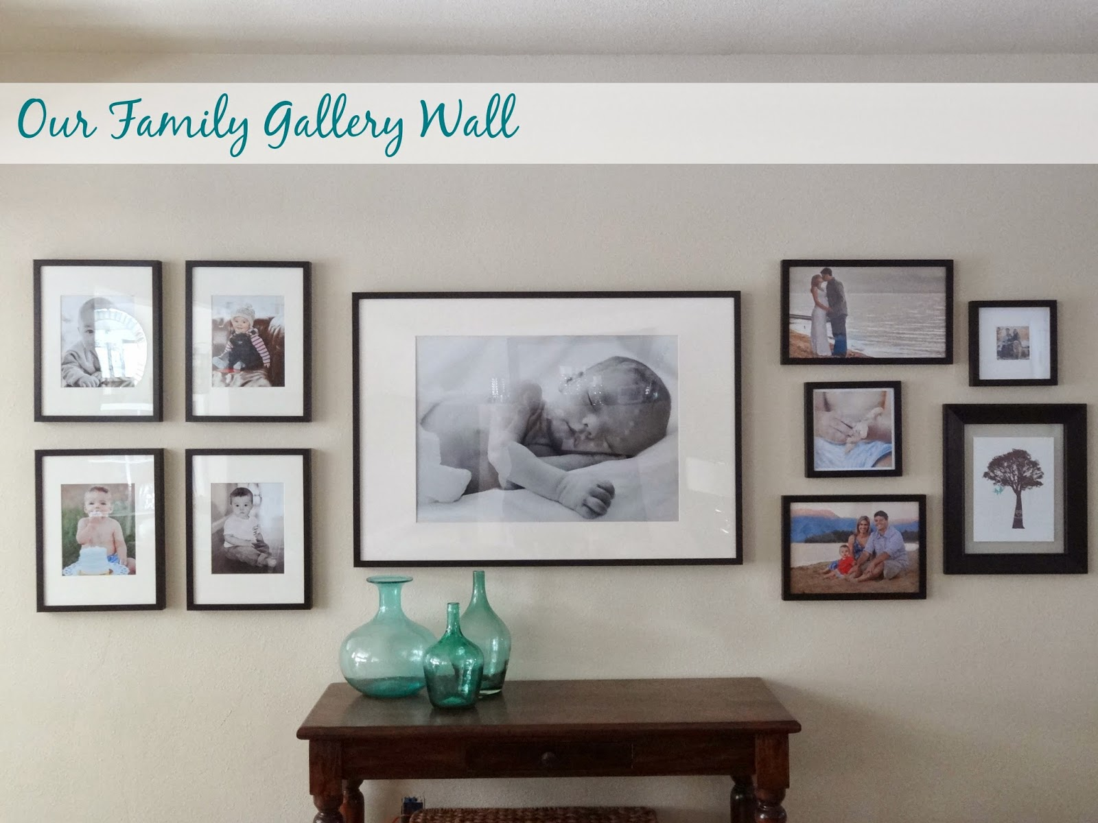 picture frame wall ideas our family gallery wall schue 4185