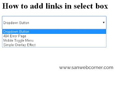 how-to-give-link-for-select-box