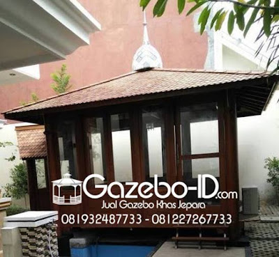 Gazebo Kayu Model Masjid