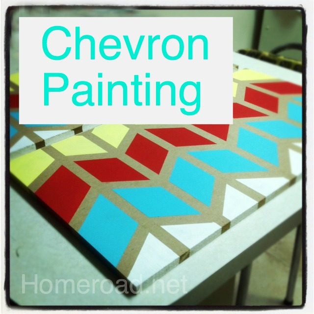 How to Paint a Chevron Pattern, Homeroad.net