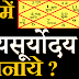 Sthaniya Suryodaya | कुंडली में स्थानीय  सूर्योदय बनाना | Kundali Me Sthaniya Suryodaya Kaise Banaye | स्थानीय  सूर्योदय |