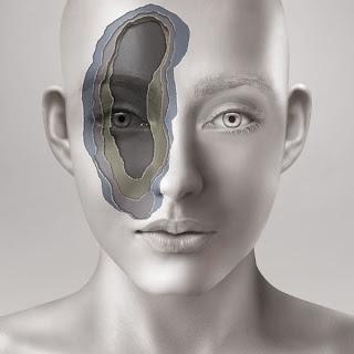 fotomontaje rostro de mujer