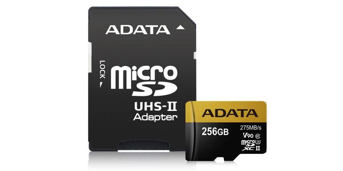 ADATA Premier ONE microSDXCカード 256GB 製品画像