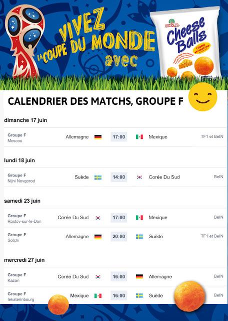 community management  : calendrier des matchs Coupe du monde 2018