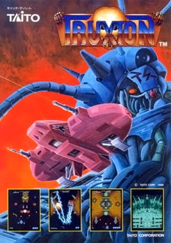 Truxton+arcade+game+portable+retro+shooter+art+flyer