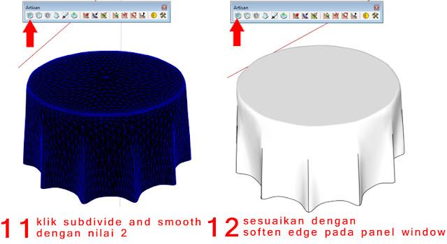 Tutorial Cara Membuat Model 3D Kain Dengan SketchUp Bahasa Indonesia